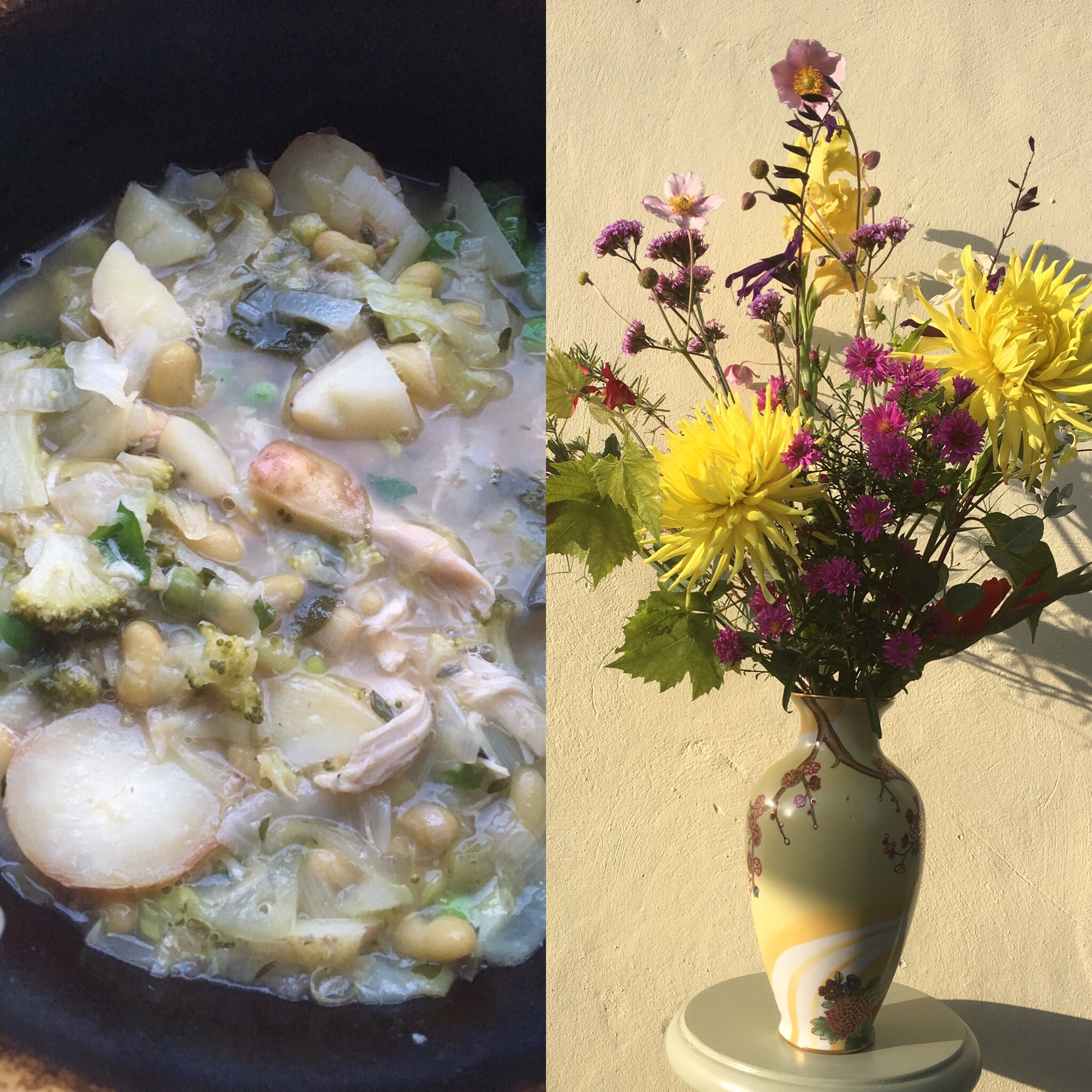 Bouquet 104 and chicken soup