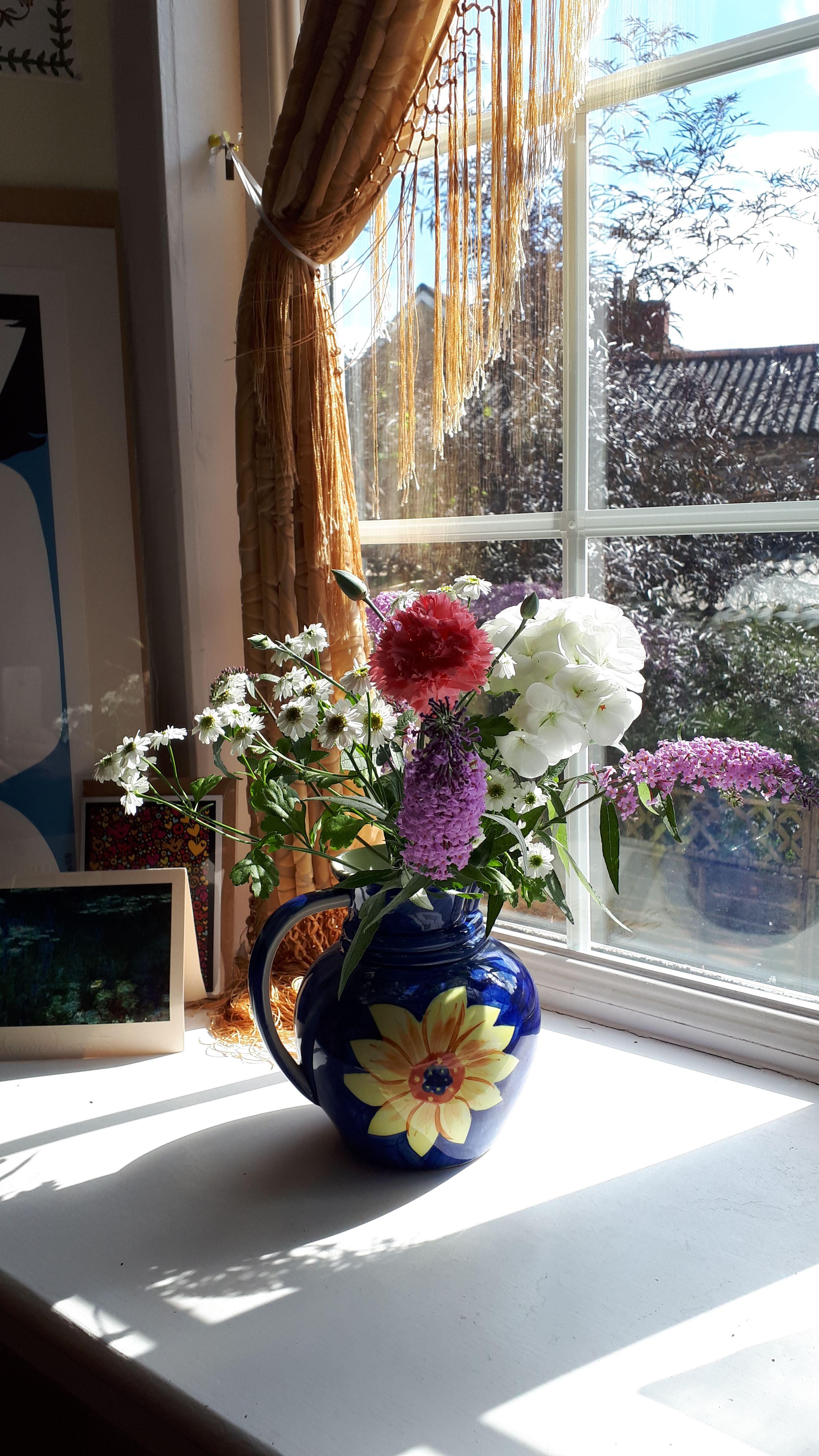 Butterfly bush in a vase on Monday